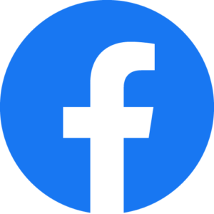 Facebook logo used as a link